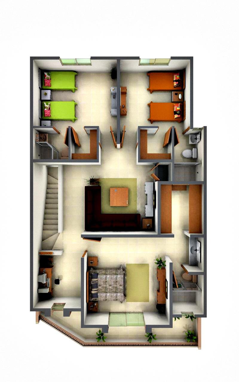 Edificaciones cien planta arquitect nica nivel inferior for Planta arquitectonica de una oficina