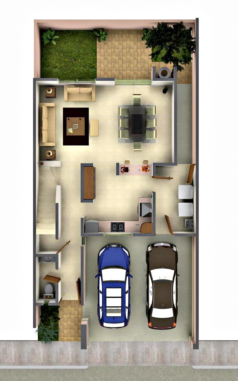 Plantas arquitectonicas de casas images - Casas de una planta modernas ...
